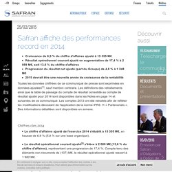 Safran affiche des performances record en 2014