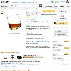 Sagaform Rocking Whiskey Glasses, 6 3/4-Ounces, Set of 6: Home & Garden