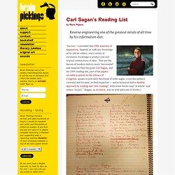 Carl Sagan's Reading List