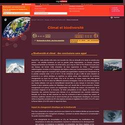 CNRS/sagascience - Biodiversité et climat: des conclusions sans appel