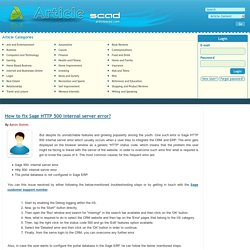 How to fix Sage HTTP 500 internal server error?