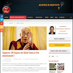 Sagesse: 20 leçons du Dalaï Lama à lire absolument !