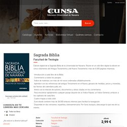 Sagrada Biblia - Ediciones Universidad de Navarra