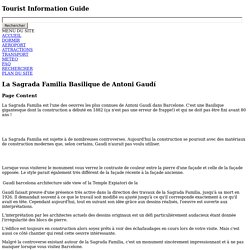 La Sagrada Familia Basilique de Antoni Gaudí