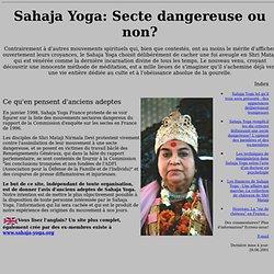 Sahaja Yoga : Secte dangeureuse?
