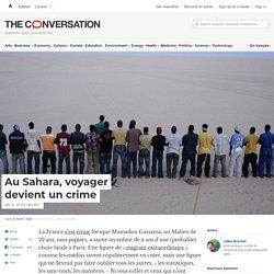 Au Sahara, voyager devient uncrime