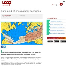 Saharan dust causing hazy conditions