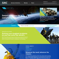 SAIC: From Science to Solutions®