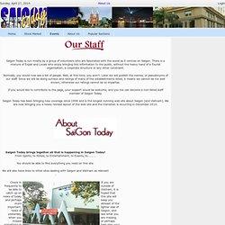 Saigon Today > About Us