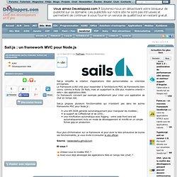 Sail.js : un framework MVC pour Node.js