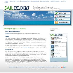 Sailing Blog Hosting, Map Tracking & Social Network