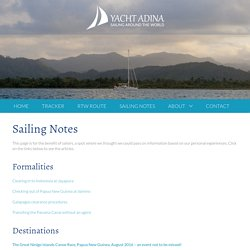 Sailing Notes