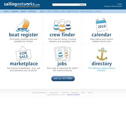 Crew Finder, Boat Register, Marine Directory, Sailing Calendar, Yacht Marketplace, Marine Job Board