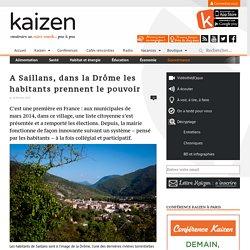 A Saillans, dans la Drôme les habitants prennent le pouvoir - Kaizen magazine