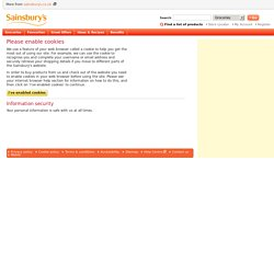 Sainsbury's - Please enable cookies or JavaScript