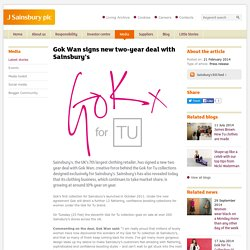 J Sainsbury plc / Gok Wan signs new two-year deal with Sainsbury's