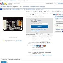 """Sainsmart 0 91"""" I2C IIC 128x32 Oled LCD FOR Arduino UNO R3 Raspberry PI ARM"""