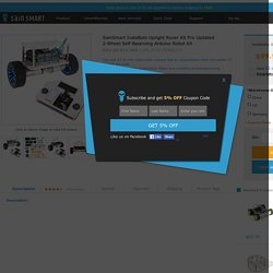 InstaBots Upright Rover Kit Pro 3D Printing, Arduino, Robotics
