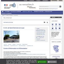 C.I.O. de Saint-Germain-en-Laye - ac-versailles.fr