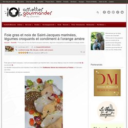 saint-jacques foie gras