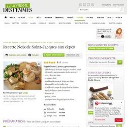 Noix de Saint-Jacques aux cèpes