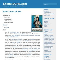 Saint Joan of Arc » Saints.SQPN.com