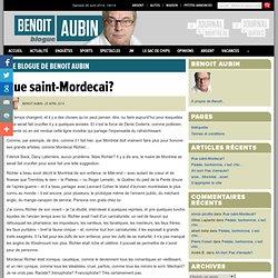 Le blogue de Benoit Aubin