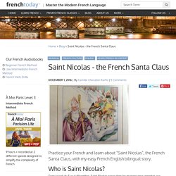 Saint Nicolas - the French Santa Claus