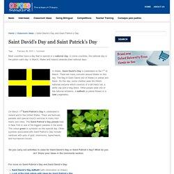 Saint David's Day and Saint Patrick's Day