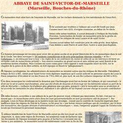 Saint Victor de Marseille