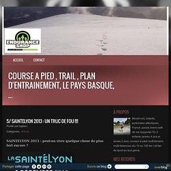 SAINTELYON 2013 : UN TRUC DE FOU !!!! - course a pied , trail , plan d'entrainement, le pays basque, ...