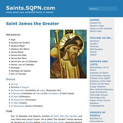 Saint James the Greater » Saints.SQPN.com
