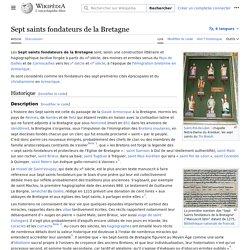 Sept saints fondateurs de la Bretagne