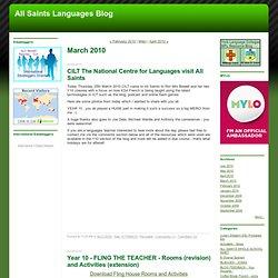 All Saints Languages Blog: March 2010