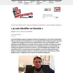 « je sais identifier un fasciste