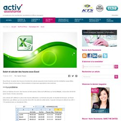 Activ Assistante > Saisir et calculer des heures sous Excel