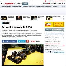 Saison 2016 - Renault a dévoilé la RS16
