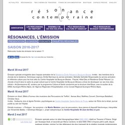 SAISON 2016-2017 - Résonance Contemporaine