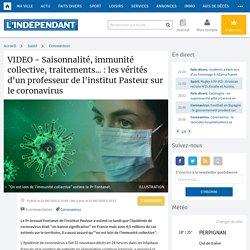 VIDEO - Saisonnalité, immunité collective, traitements... : les vérités d'un professeur de l'institut Pasteur sur le coronavirus