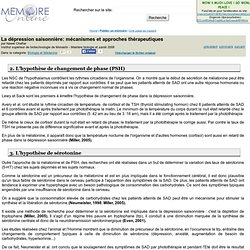La dépression saisonnière: mécanismes et approches thérapeutiques - Nawel Cha...