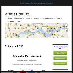 Saisons 2015 – Géocaching Sherbrooke