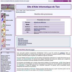 SAIT : Gestion des processus - [GNU/Linux]