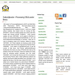 Saitoobjloader - Processing OBJLoader library