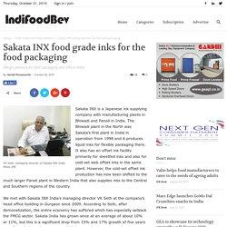 Sakata INX food grade inks for the food packaging - IndiFoodBev