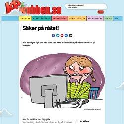 Fyra artiklar på KPwebben ang Säker på nätet