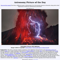 2013 March 11 - Sakurajima Volcano with Lightning