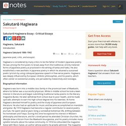 Sakutarō Hagiwara Essay