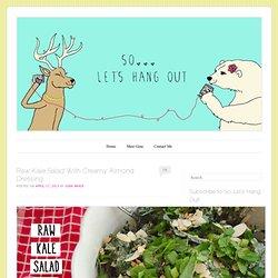 Raw Kale Salad With Creamy Almond Dressing