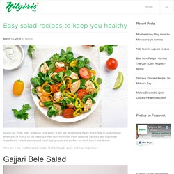 Best Healthy Salad Recipes to Keep You Fit
