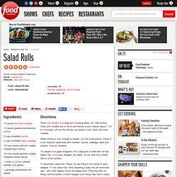 Salad Rolls Recipe :